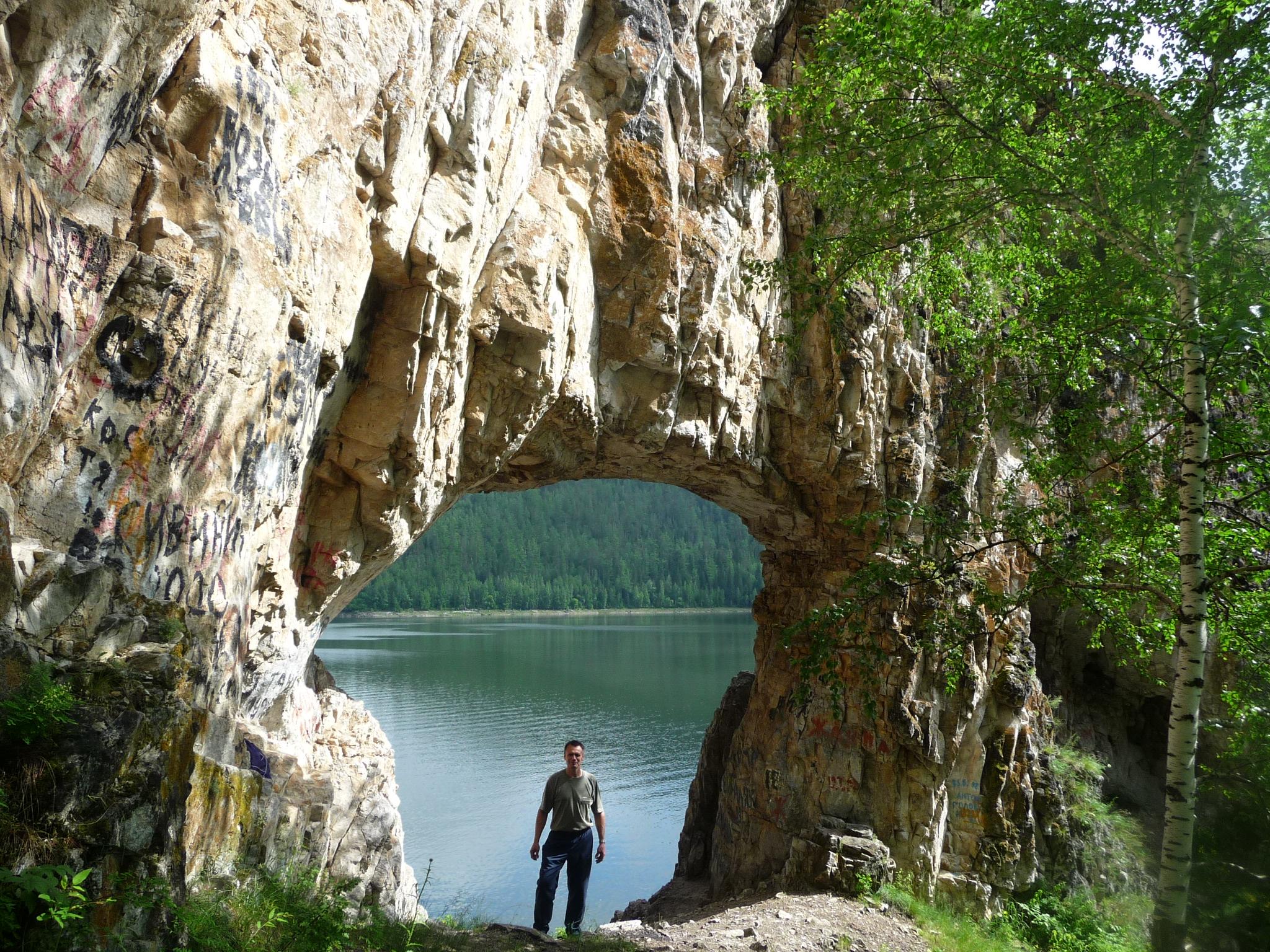 Красноярское море, Бирюса, пещеры