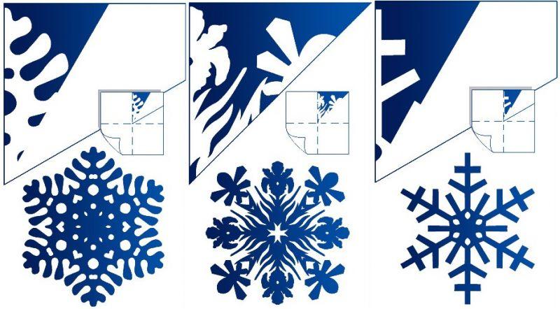 Снежинки из бумаги своими руками лёгкие
