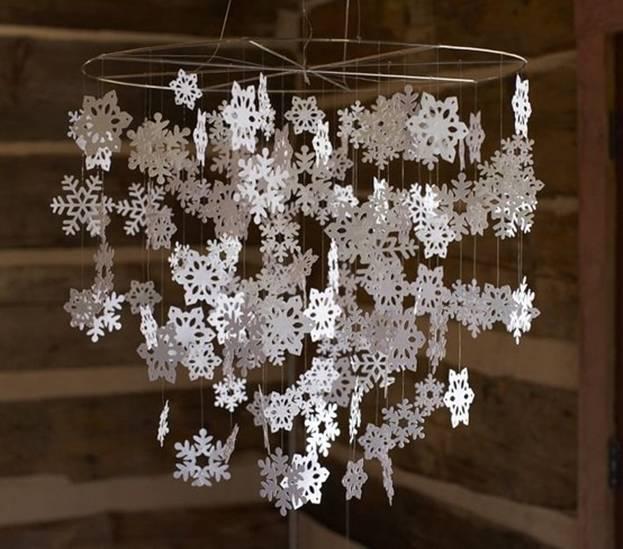 Гирлянды из снежинок своими руками схемы